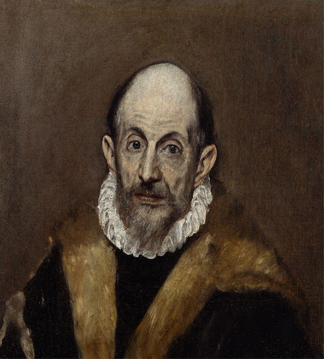 Autorretrato, El Greco, 1595