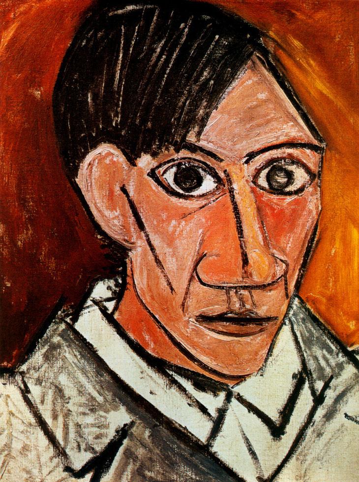 Autoportrait à la mèche, Pablo Picasso, 1907