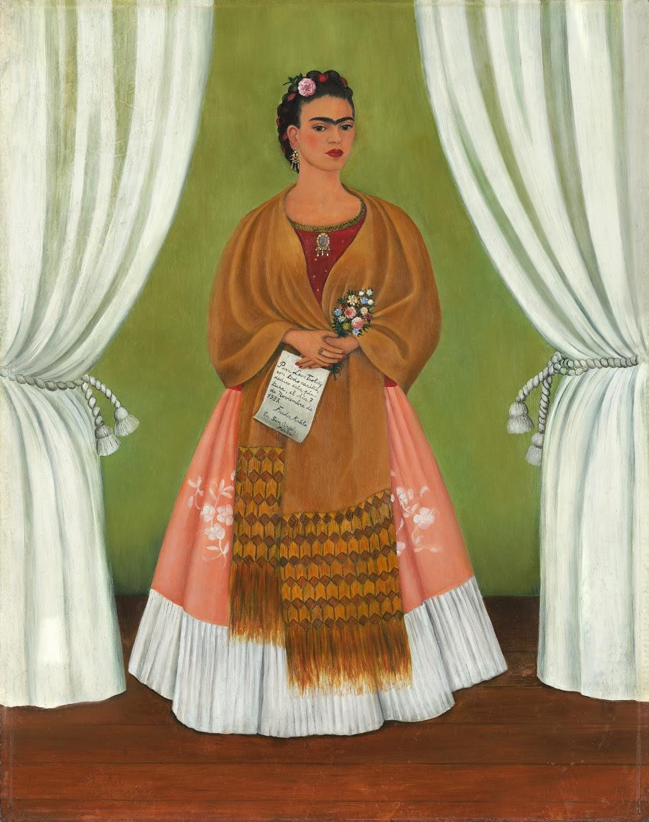 Autorretrato dedicado a Trotsky, Frida Kahlo, 1937